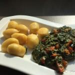 Gnocchi mit Spinat - Angerichtet